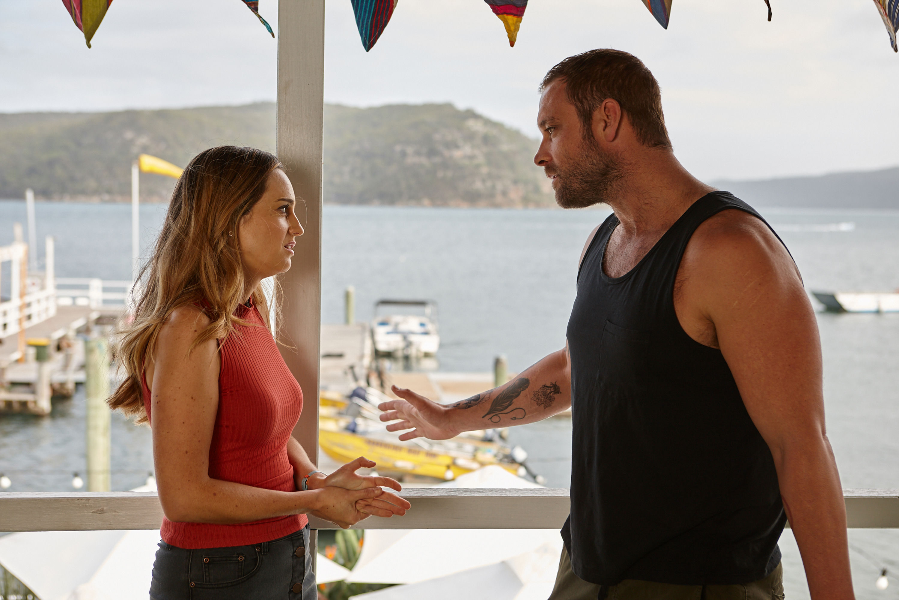 **EMBARGO 24TH SEPTEMBER 2018** Home & Away EP 6957 Robbo (JAKE RYAN) is thrown by Tori's (PENNY MCNAMEE) IVF request
