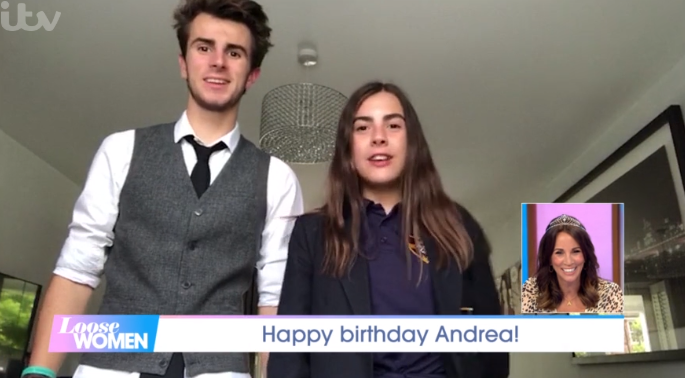 Andrea McLean's kids