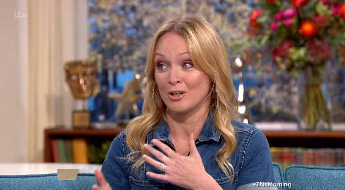 Michelle Hardwick, Emmerdale's Vanessa, on This Morning Credit: ITV