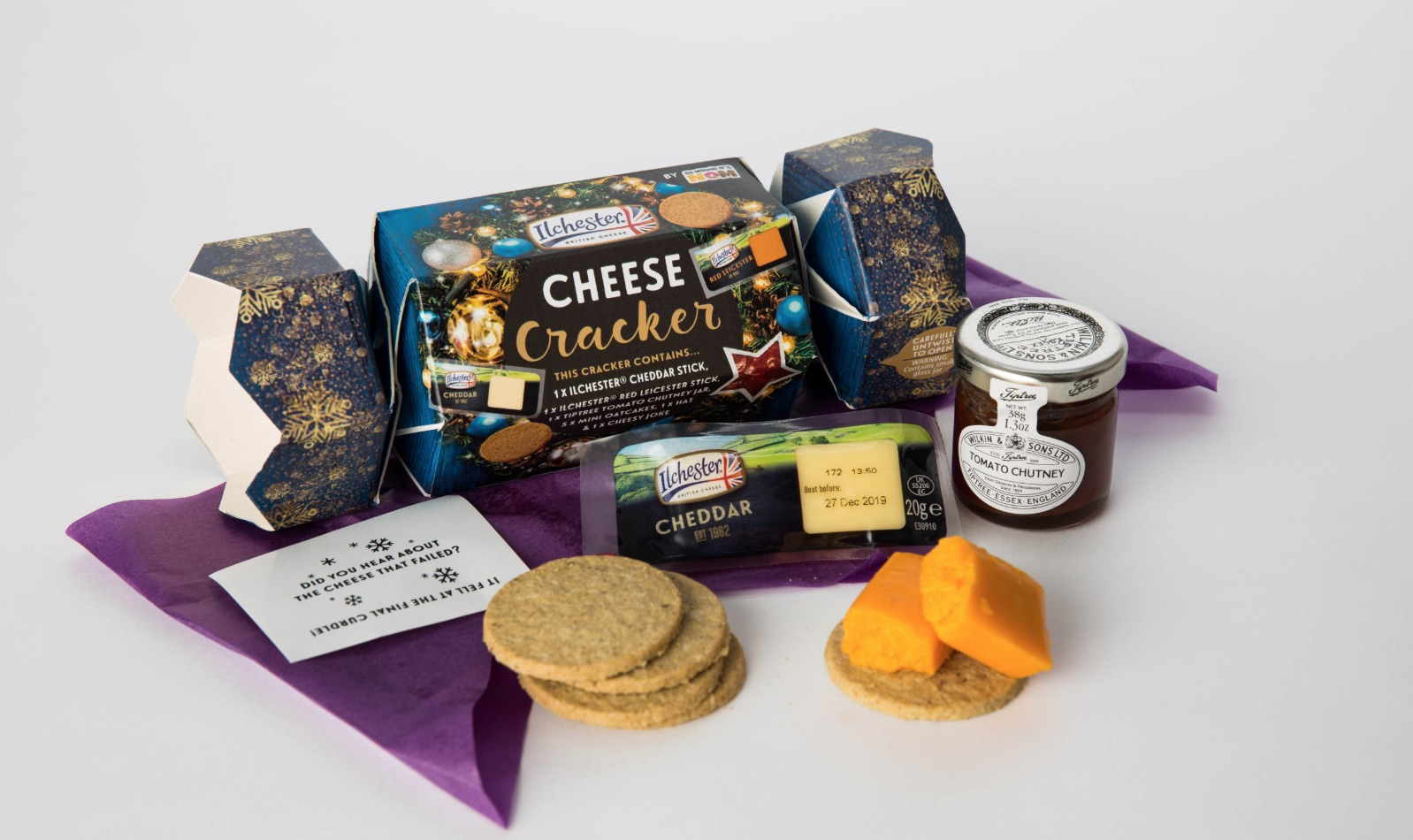 The world's first cheese-filled Christmas cracker will hit shops in November
