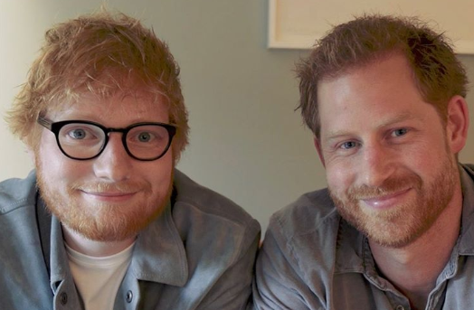 Prince Harry and Ed Sheeran star in new video for World Mental Health Day