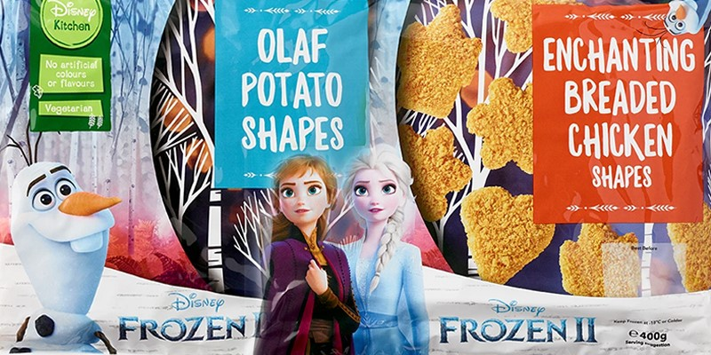 Iceland is exclusively selling a Frozen II range of food from today