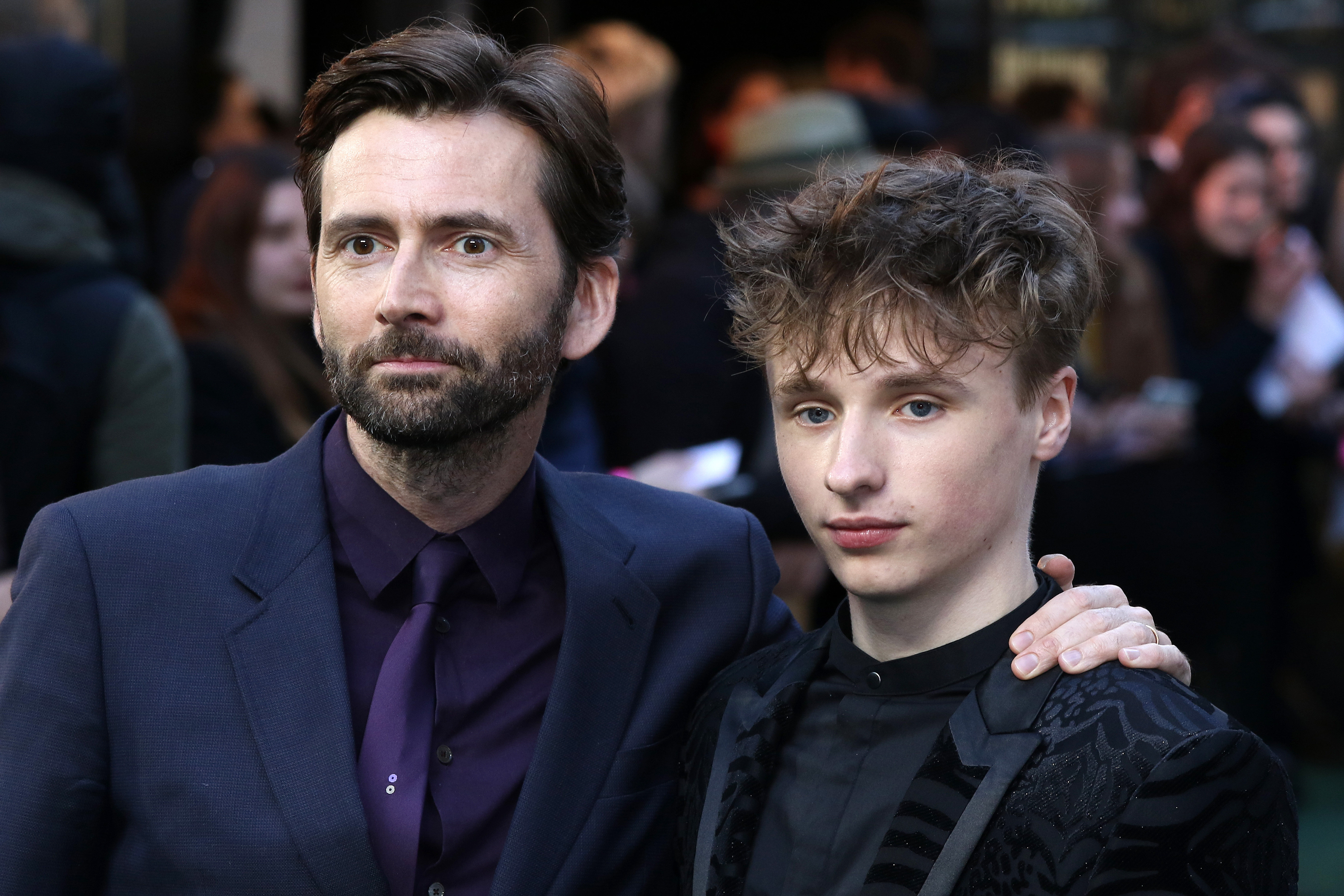 David Tennant and son Ty
