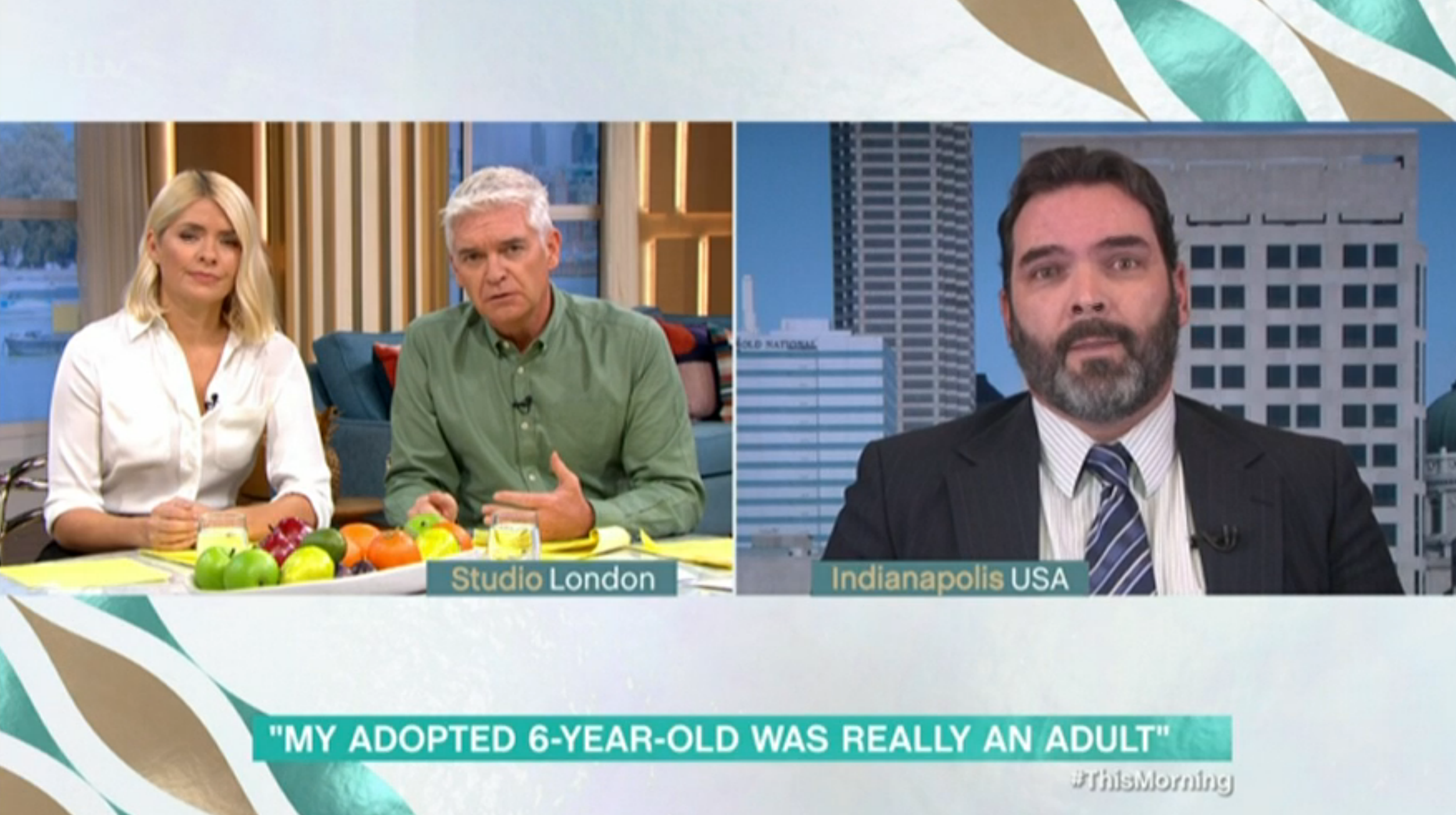 This Morning guest reveals six-year-old adopted girl was actually 22 and tried to kill him