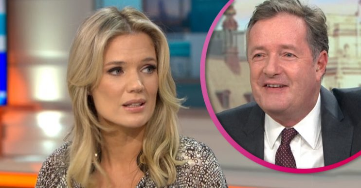 Charlotte Hawkins and Piers Morgan