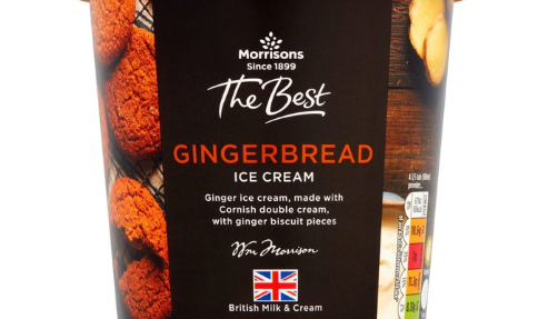 Morrisons launches gingerbread ice cream as part of their festive food range
