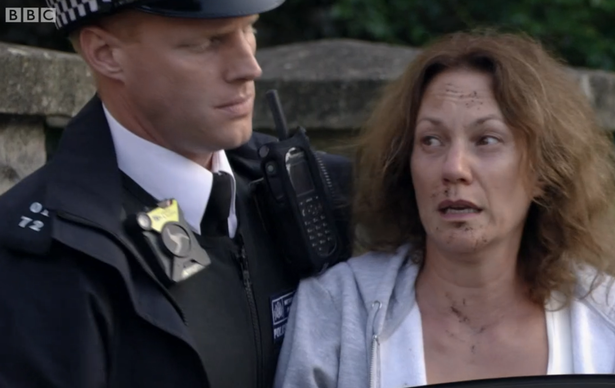 EastEnders fans call out continuity error as Rainie is arrested