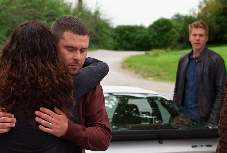 Chas says goodbye to Robert and Aaron