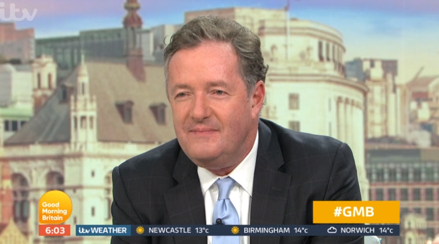 Piers Morgan in weird TV debate with Mr Broccoli