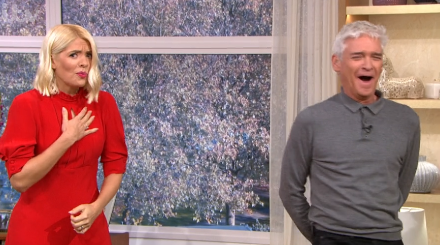 Holly Willoughby shrieks and storms off This Morning set after Phillip Schofield's prank