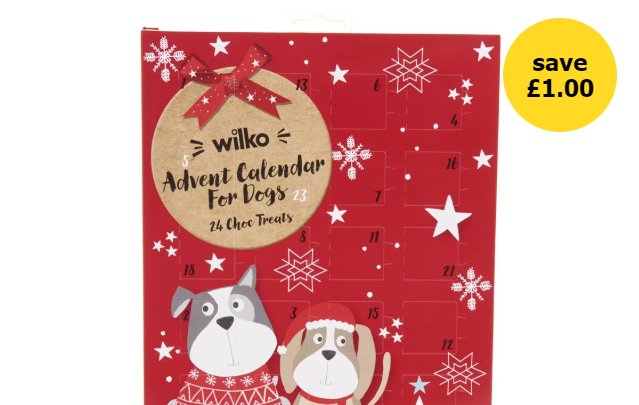 Wilko is selling a Christmas advent calendar for dogs with treats for just £1!