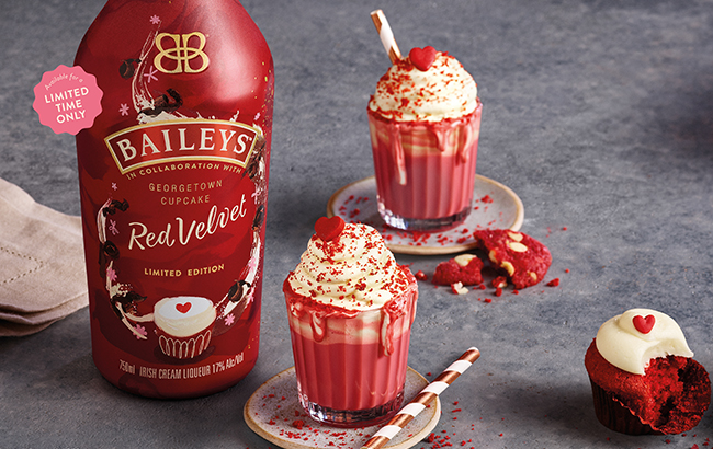 Baileys fans go wild for new red velvet flavour - but it's only launching in America