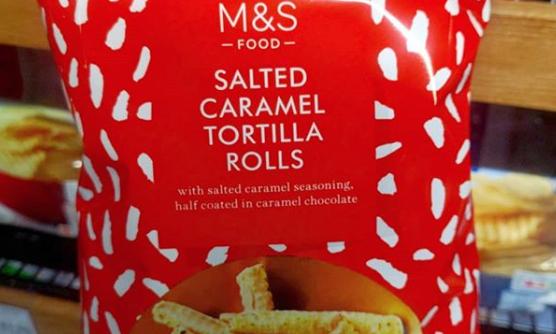 M&S shoppers divided over salted caramel CRISPS