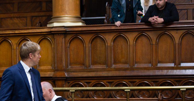 Emmerdale Robert Sugden in court