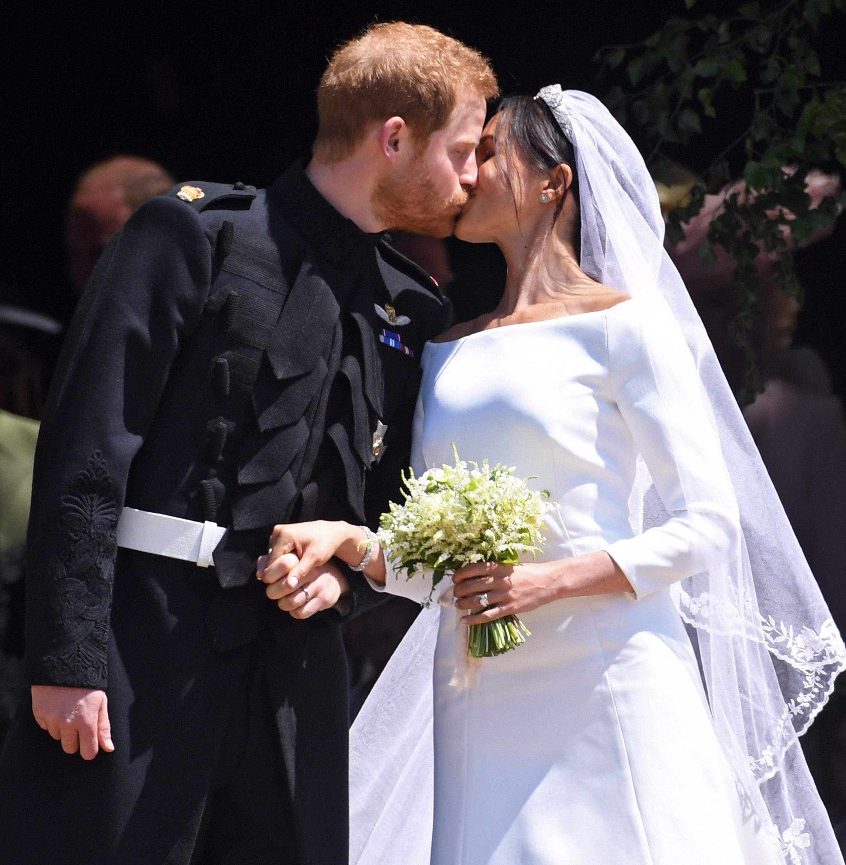 Harry and Meghan married in secret three days before the big ceremony