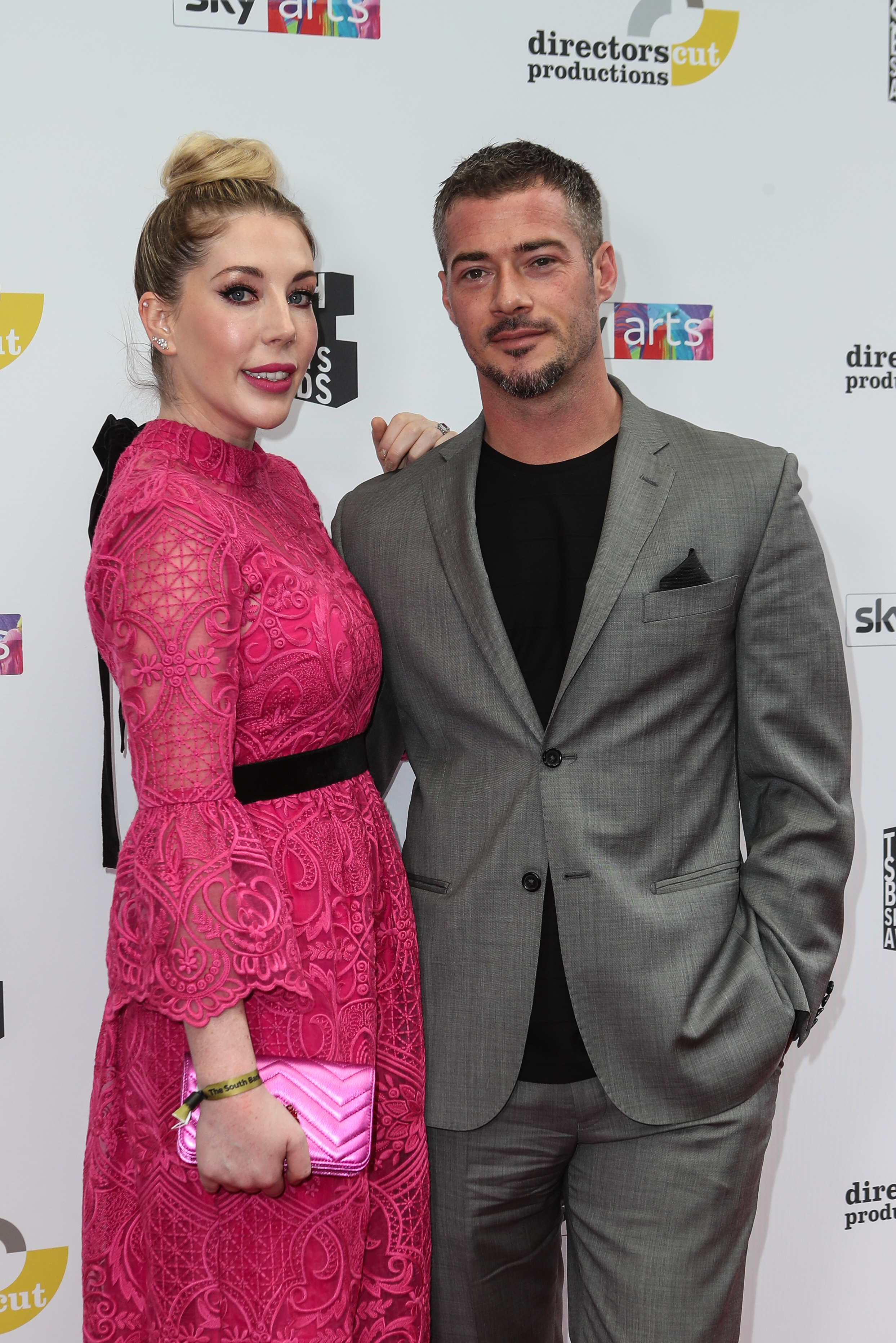 Red carpet arrivals for the 2019 South Bank Sky Arts Awards at The Savoy in London Pictured: Katherine Ryan,Bobby Kootstra Ref: SPL5102571 070719 NON-EXCLUSIVE Picture by: SplashNews.com Splash News and Pictures Los Angeles: 310-821-2666 New York: 212-619-2666 London: +44 (0)20 7644 7656 Berlin: +49 175 3764 166 photodesk@splashnews.com World Rights