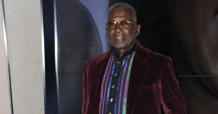 Star arrivals for the Gift of Life Black and White Ball in London, UK. ACLT holds celebrity fundraising balls to support the charity's work within stem cell, bone marrow, blood and organ donation. Pictured: Rudolph Walker Ref: SPL5031171 061018 NON-EXCLUSIVE Picture by: Terry Scott / SplashNews.com Splash News and Pictures Los Angeles: 310-821-2666 New York: 212-619-2666 London: +44 (0)20 7644 7656 Berlin: +49 175 3764 166 photodesk@splashnews.com World Rights