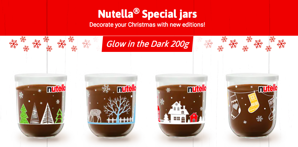 Nutella launches glow in the dark range of Christmas jars