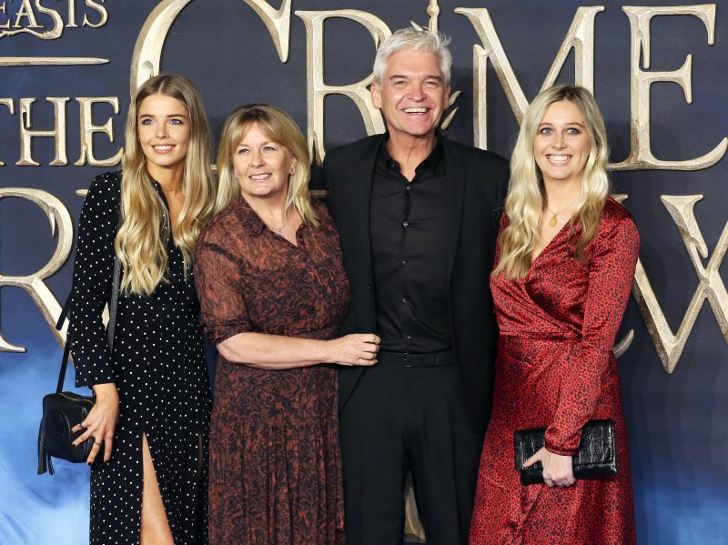 Phillip Schofield with his wife Stephanie Lowe and daughters