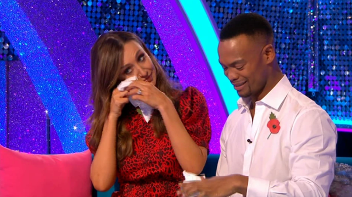 Strictly's Catherine Tyldesley tears up as she likens elimination to DIVORCE