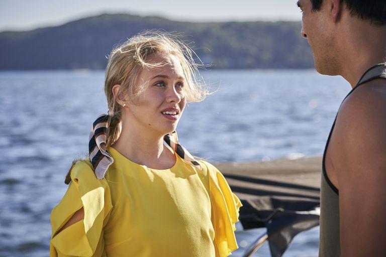Olivia Deeble's exit as Raffy Morrison.
