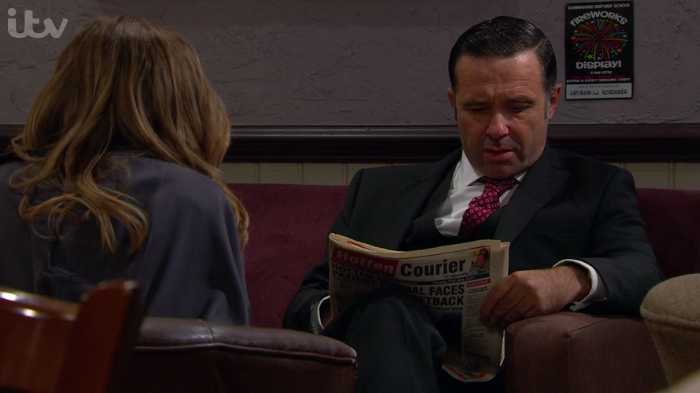 Emmerdale viewers spot Graham Foster reading paper two years out of date