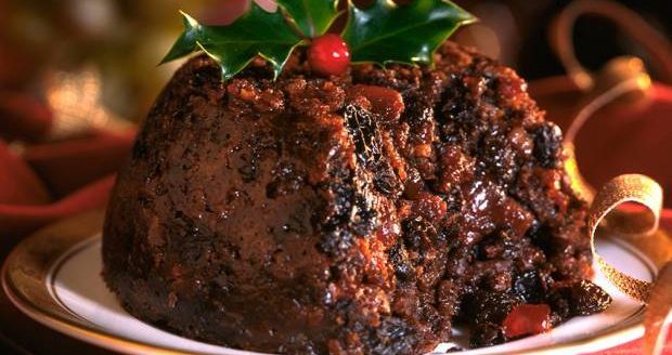 Tesco shoppers go wild for mulled wine Christmas pudding topped in glitter
