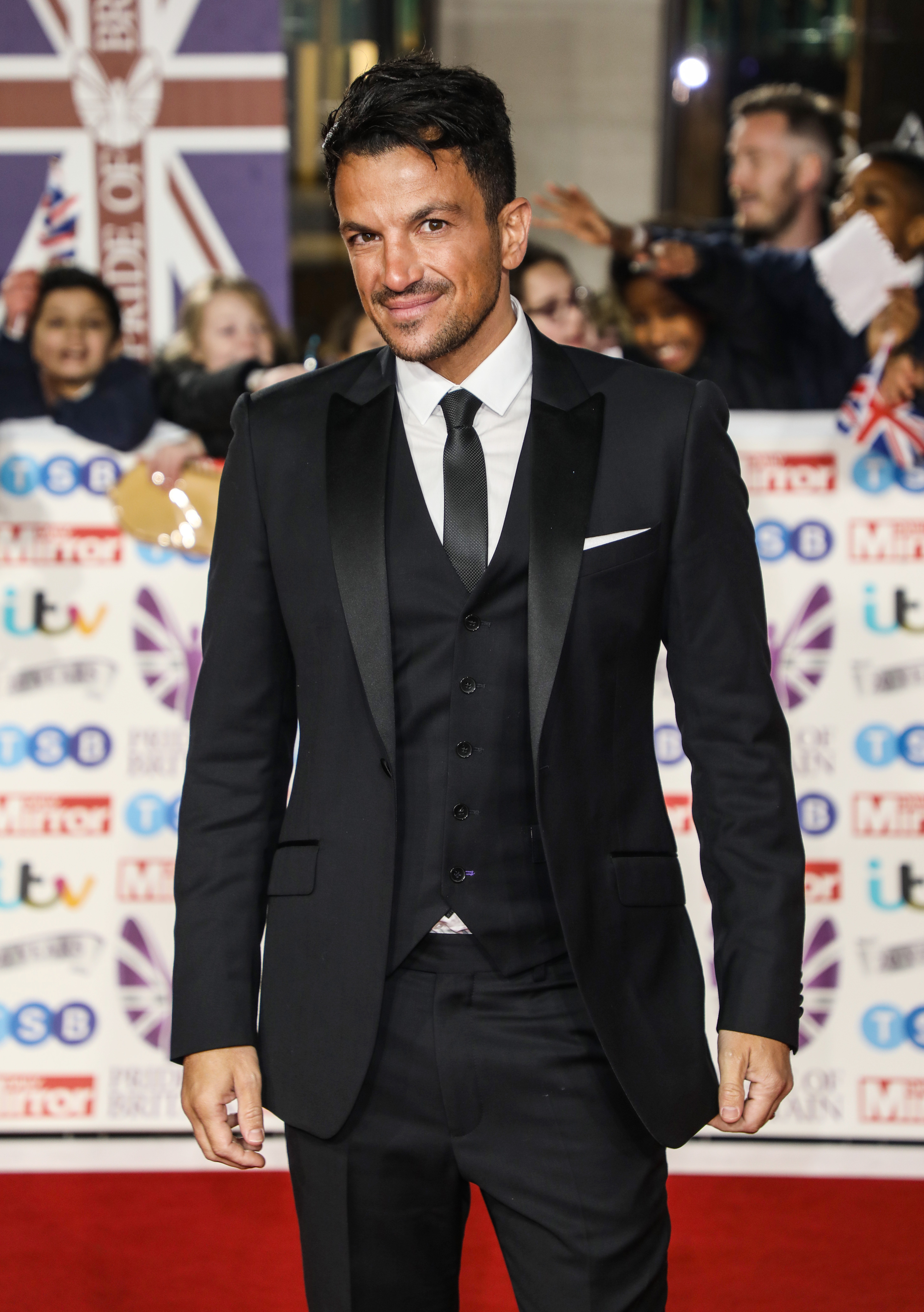 Celebrities arrive at the Pride of Britain Awards in London Pictured: Peter Andre Ref: SPL5124971 281019 NON-EXCLUSIVE Picture by: Brett D. Cove / SplashNews.com Splash News and Pictures Los Angeles: 310-821-2666 New York: 212-619-2666 London: +44 (0)20 7644 7656 Berlin: +49 175 3764 166 photodesk@splashnews.com World Rights