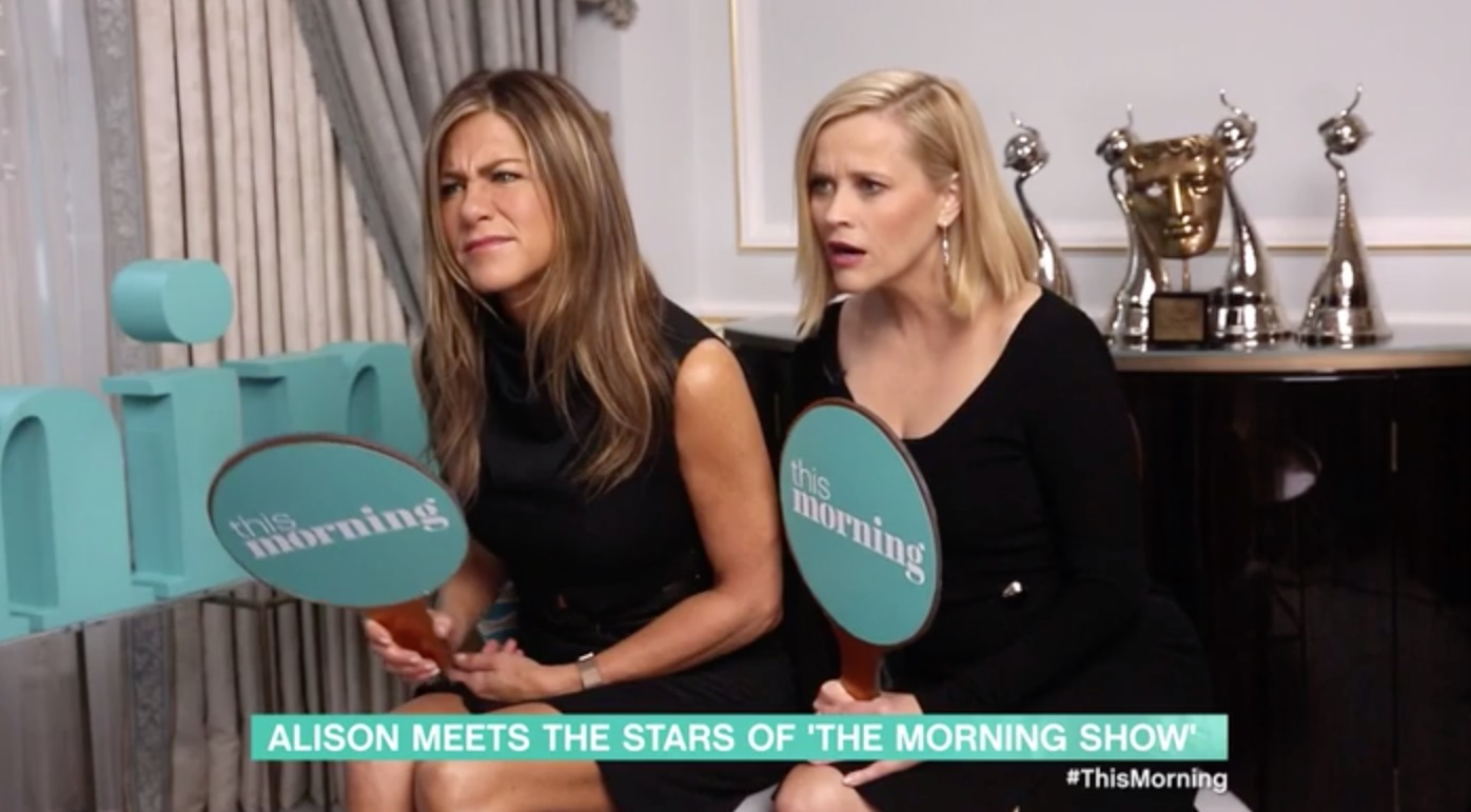 Jennifer Aniston shocked by naked Gino D'Acampo on This Morning