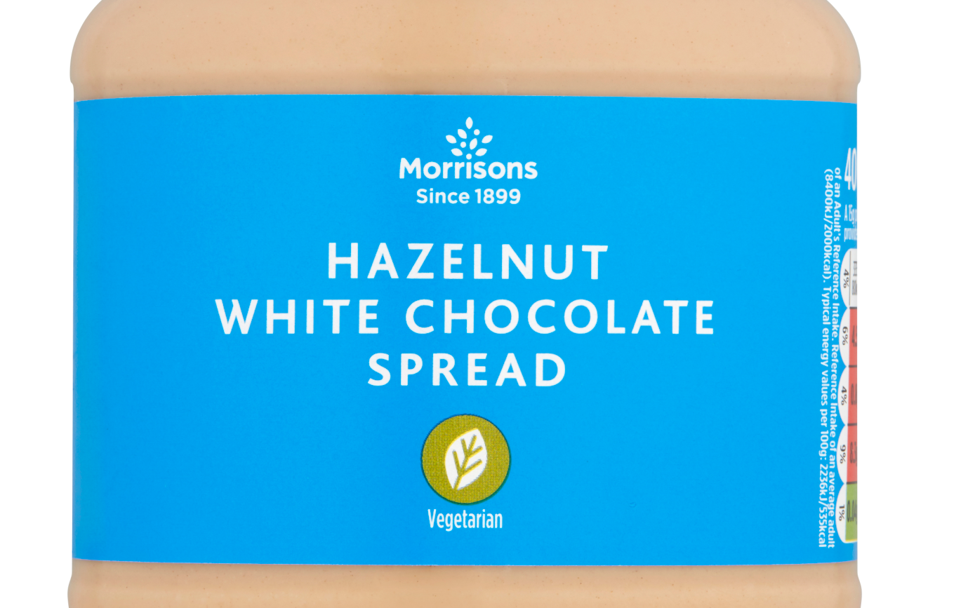 Morrisons is now selling a white chocolate hazelnut spread