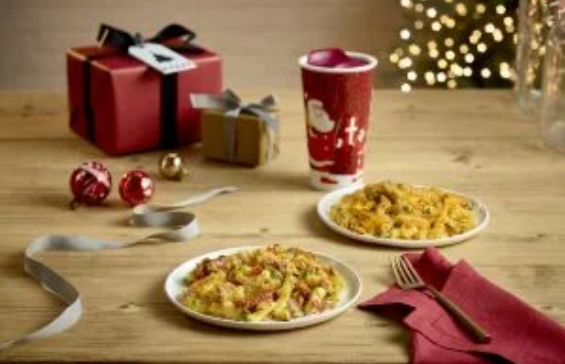 Costa selling Pigs in Blankets Mac and Cheese in a box for Christmas