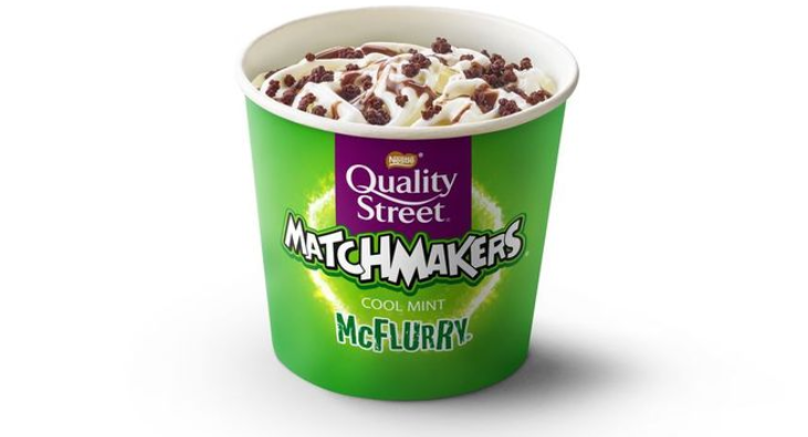 McDonald's is launching a Quality Street Cool Mint Matchmakers McFlurry