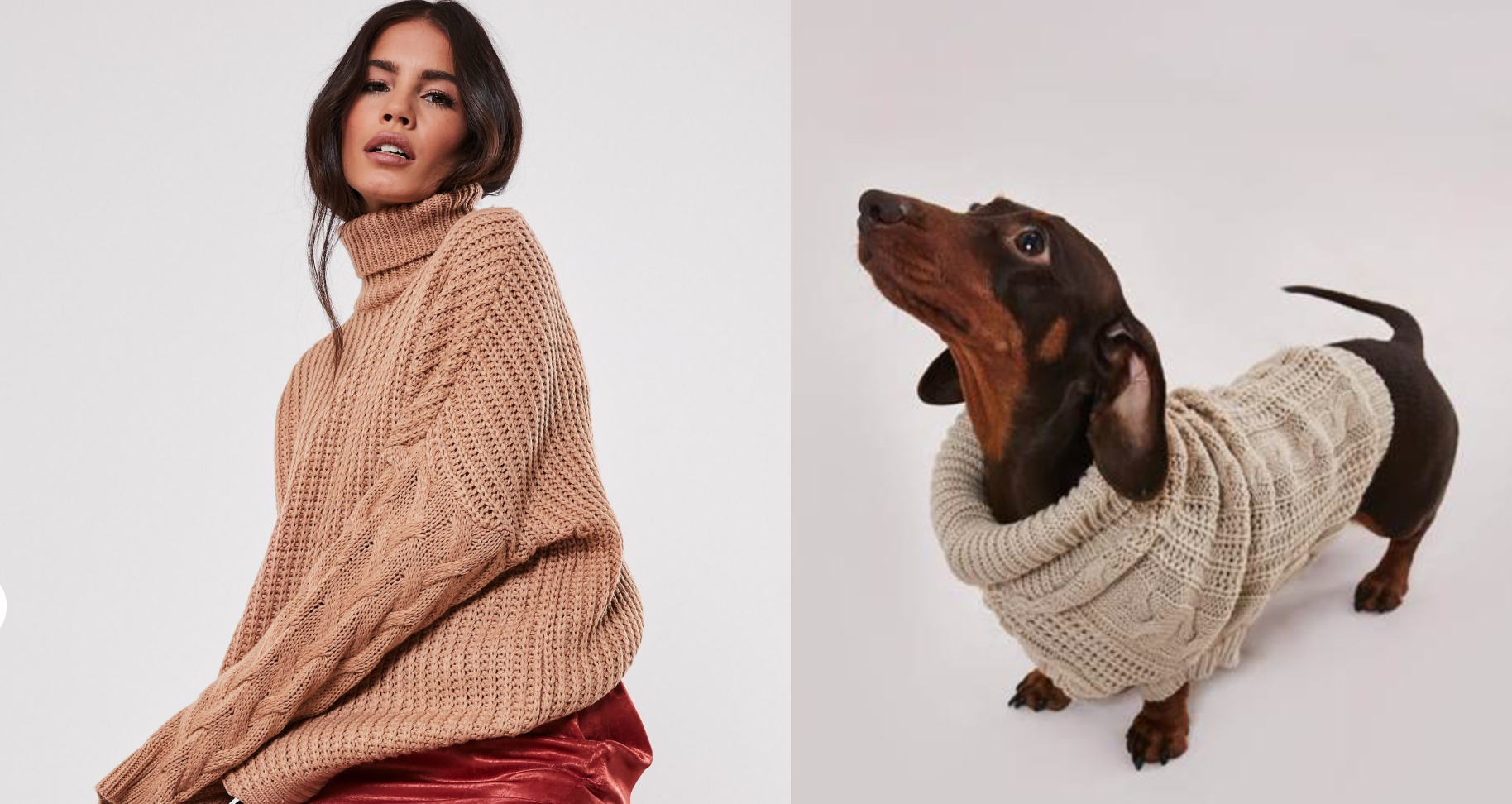 Missguided launches matching roll-neck jumpers for you and your dog