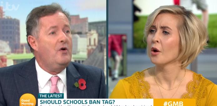 Piers Morgan rages as GMB guest demands schools should ban tag as it's 'too aggressive'