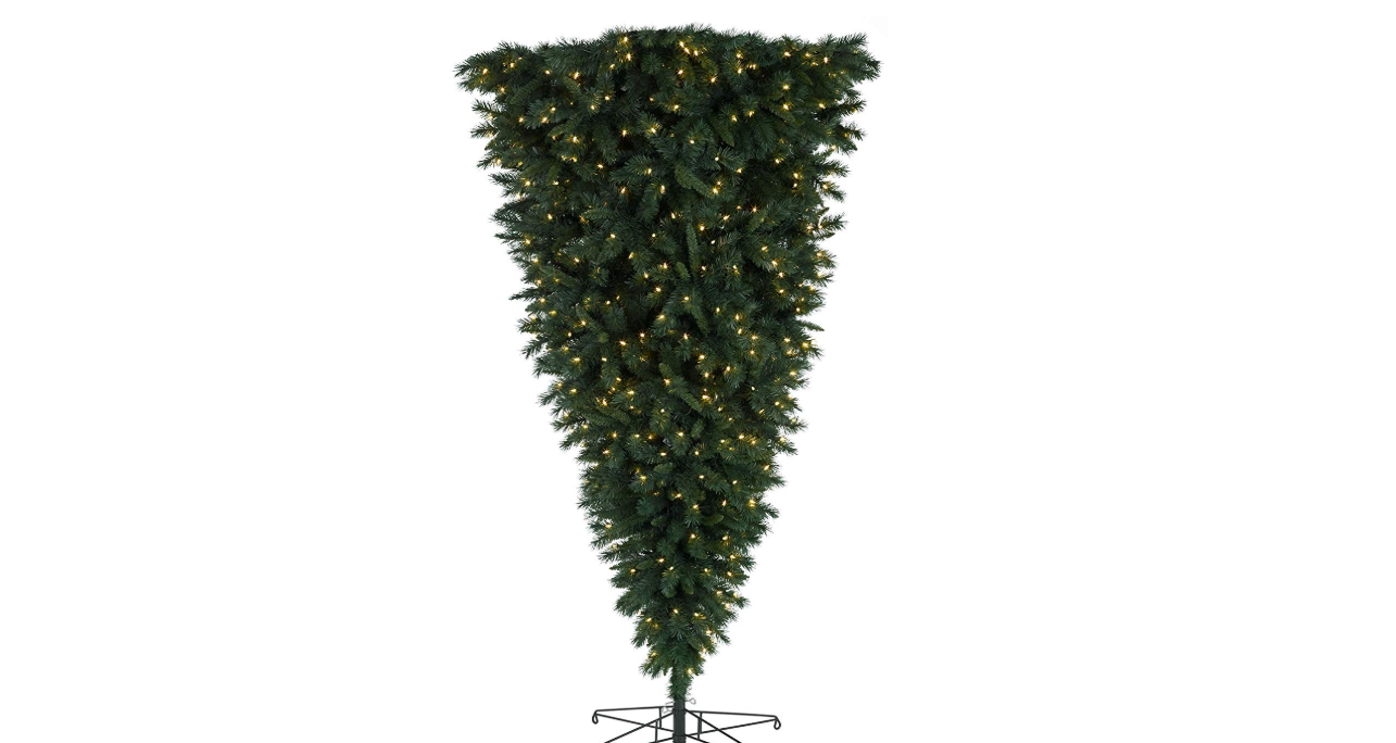 Upside down Christmas trees become latest trend for festive period