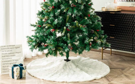 Amazon is selling fluffy white Christmas tree skirts that look like snow!