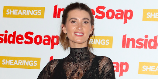 Charley Webb unveils Buster's short haircut after abuse from trolls - and he looks the image of her