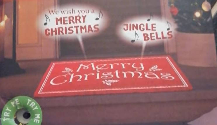 B&M is selling a doormat sensor that plays Christmas songs for £4.99