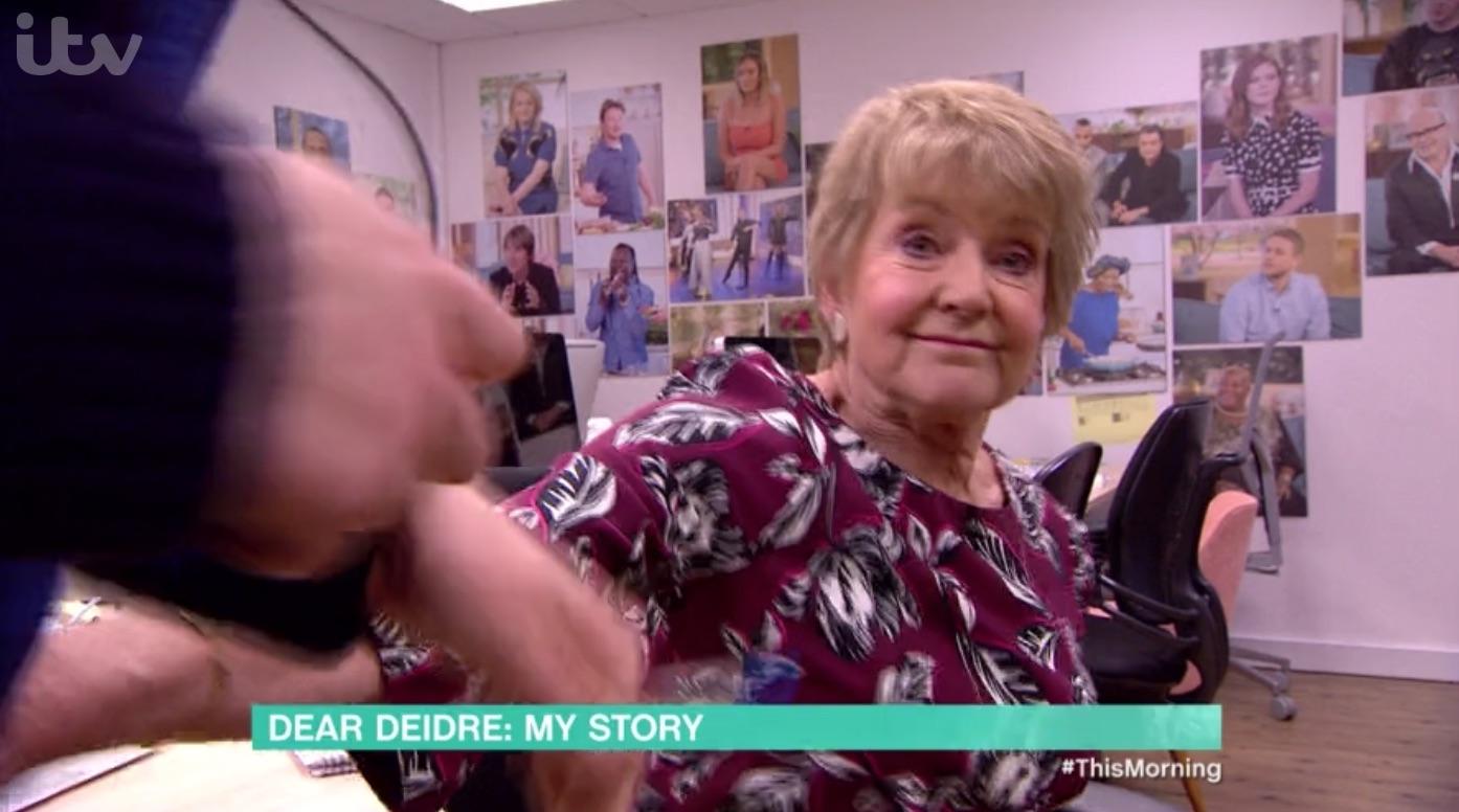 This Morning's Deidre Sanders addresses moment she 'shoved' crew member out of camera shot
