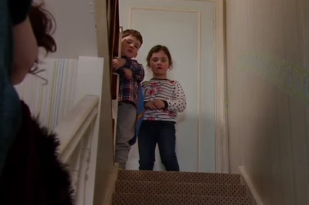 Coronation Street siblings William and Isabella Flanagan hold hands in picture to welcome in the New Year