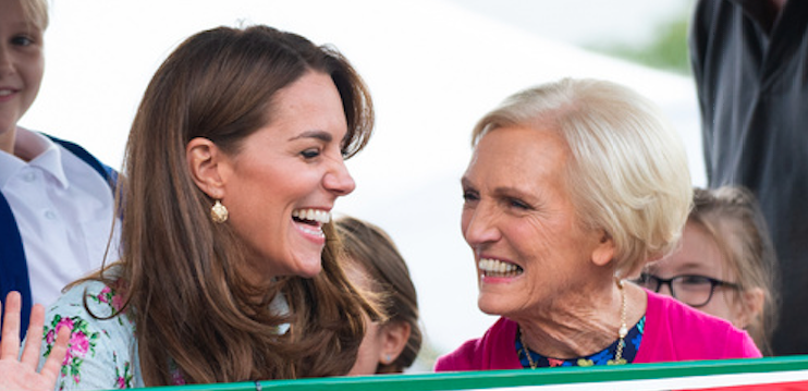 Mary Berry defends Kate after Prince William criticises her cooking