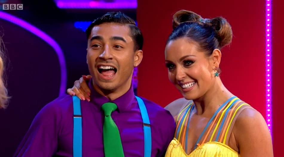 Karim and amy on Strictly