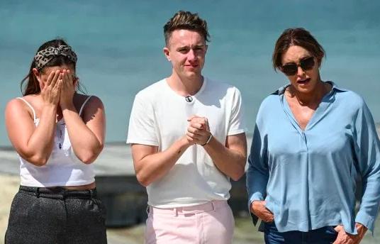 Roman met fellow campmates Caitlyn Jenner and Jacqueline Jossa
