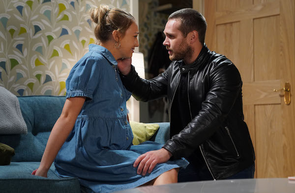 EastEnders fans 'excited to meet baby Peggy' as Louise goes into labour