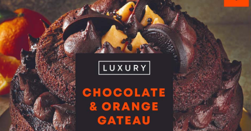 Iceland selling chocolate and orange gateau for Christmas