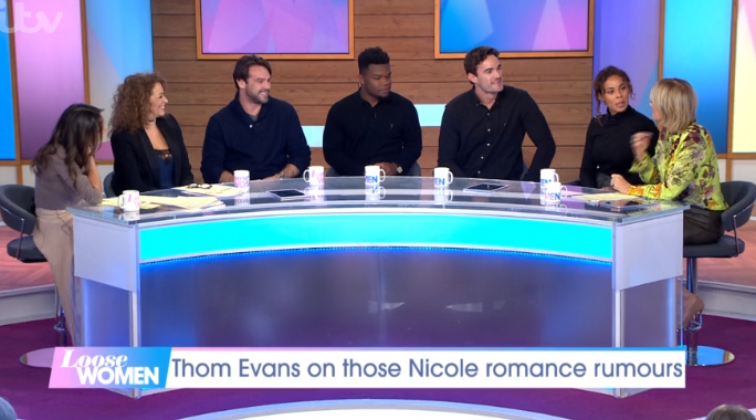 Loose Women stars with Ben Foden, Levi and Thom Evans