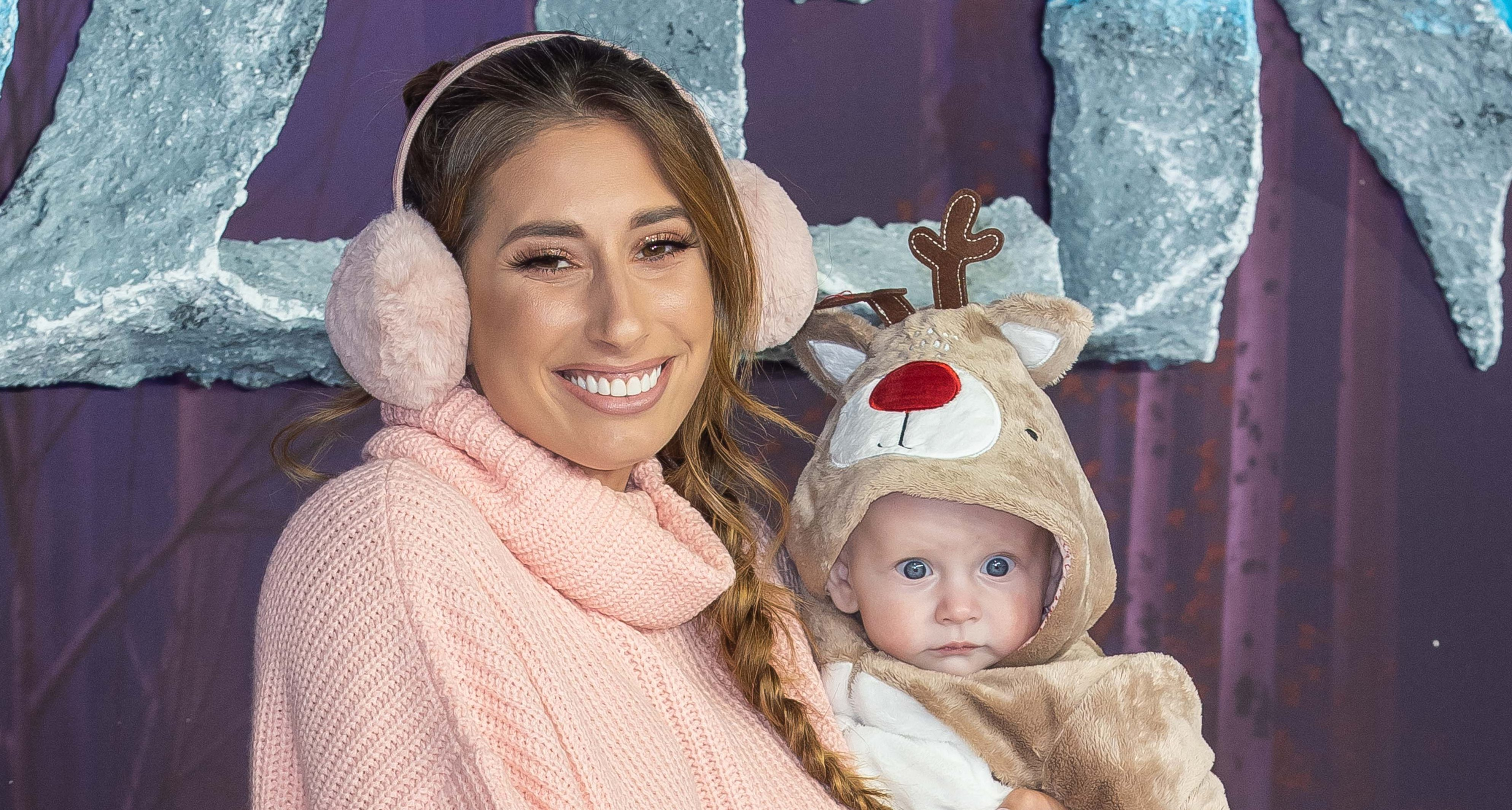Stacey Solomon kickstarts son Rex's first Christmas as she puts up her tree