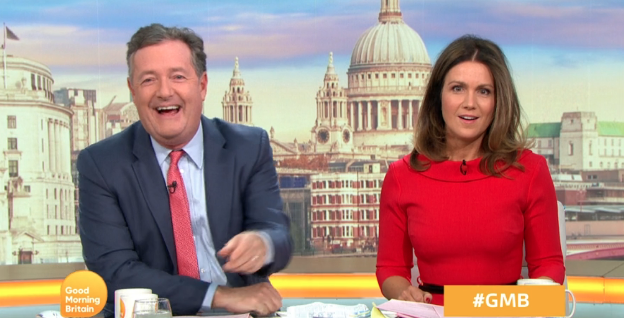 Piers Morgan and Susanna Reid laugh off Good Morning Britain 'secret feud' claims