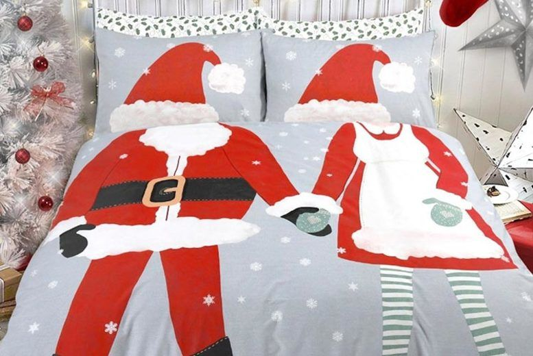 Christmas Santa duvet sets are available from Wowcher for £12.99