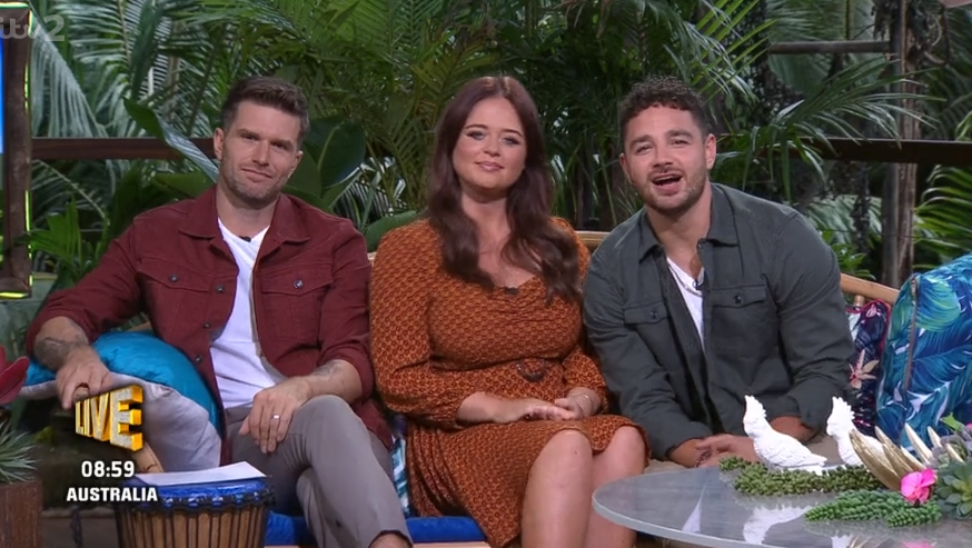 Joel Dommett, Emily Atack and Adam Thomas on Extra Camp